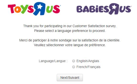 """Toys""""R""""Us Guest Satisfaction Survey"""