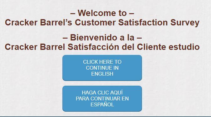 Cracker Barrel Customer Satisfaction Survey,