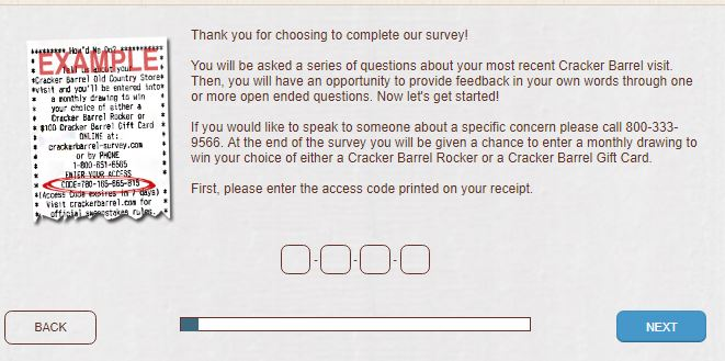 Cracker Barrel Survey: Sweepstakes Customer Satisfaction Survey