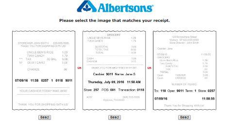 Albertsons » Online Survey