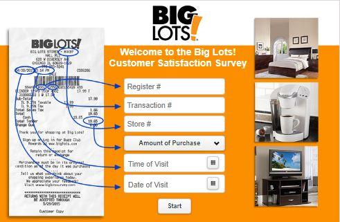 BigLots.com Customer Care Survey