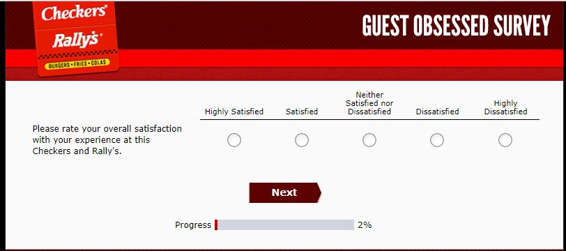 GuestObsessed – Checkers and Rally's Survey for a free Checker