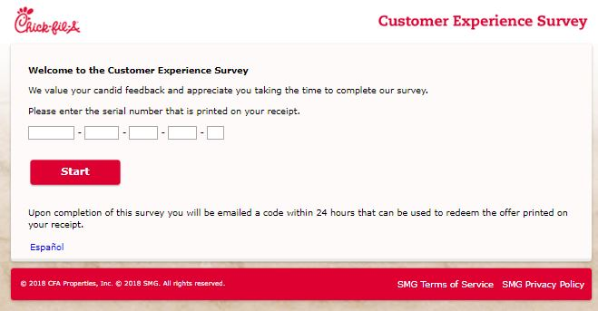 Chick Fil A Customer Survey
