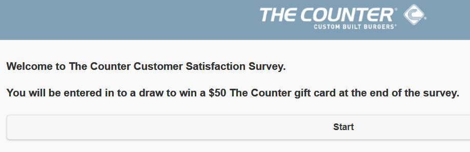 The Counter Customer Satisfaction Survey