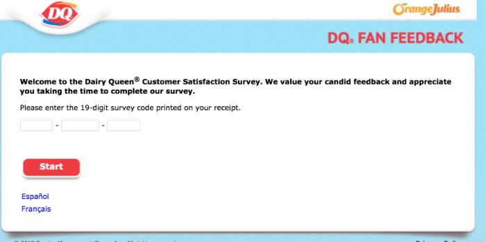 dairy queen survey coupon