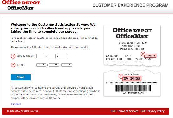 Office Depot Feedback Survey Guide
