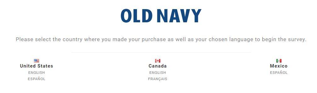 Old Navy Customer Experience Survey