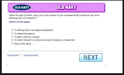 Guestsatisfactionsurveys.com - Old Navy Customer Feedback Survey