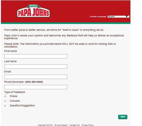 Contact Us - Papa John's