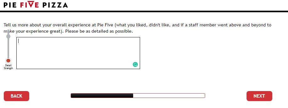 Pie Five Pizza Customer Satisfaction Survey - www.piefivelistens.com