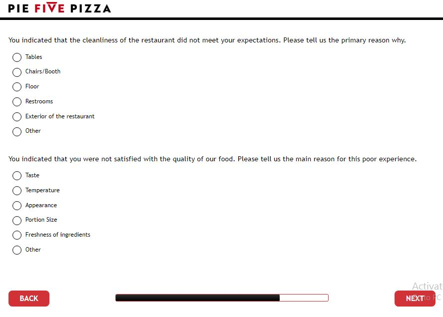 piefivepizza.com/survey - Pie Five Pizza Customer Survey Coupon