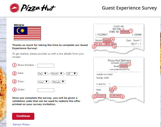 pizzahutsurvey.com.my - Pizza Hut Malaysia Guest Experience Survey