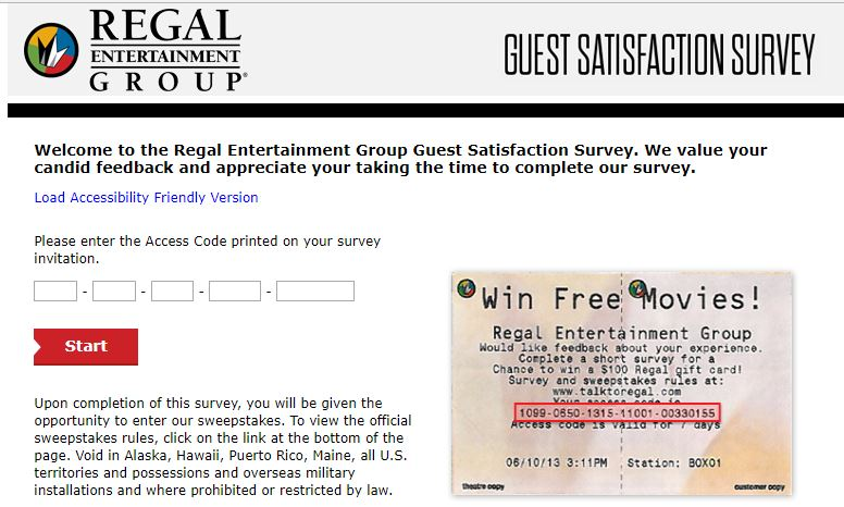How to take Regal Entertainment Group Customer Satisfaction Survey?