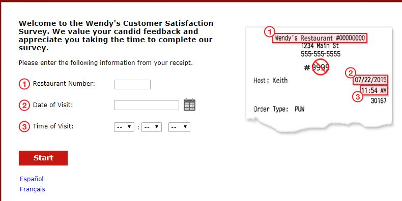 Wendy's Customer Survey