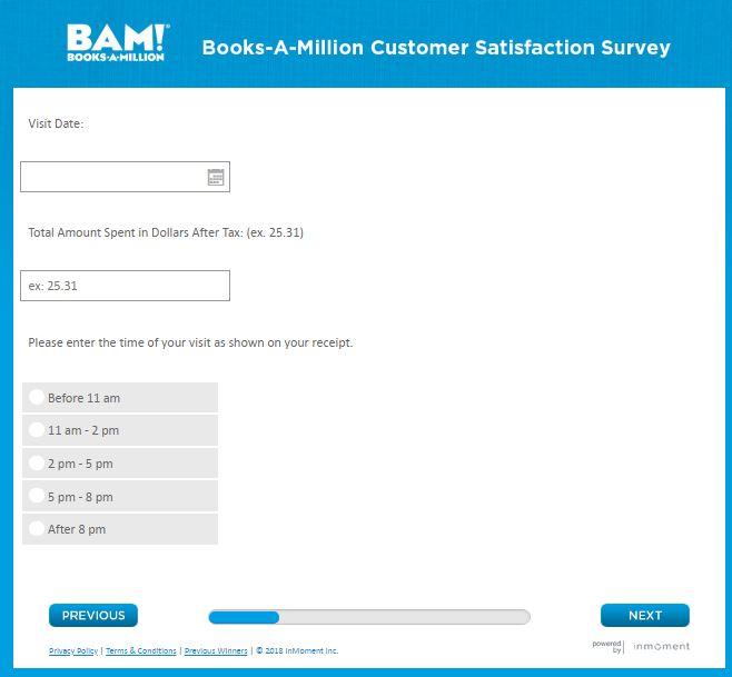 BOOKS-A-MILLION Customer Service Survey