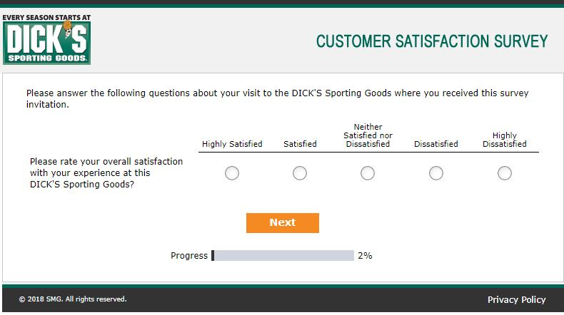 DICK'S Sporting Good Customer Survey: Get $10 off Coupon