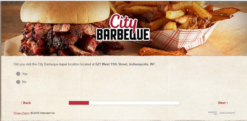 City Barbeque Customer Feedback Survey | www.tellcitybbq.com