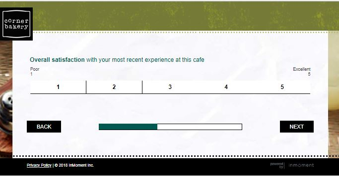 corner bakery cafe feedback