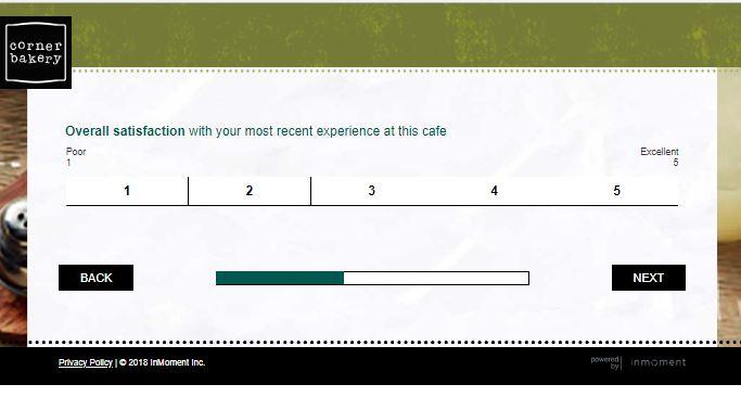 corner bakery cafe feedback