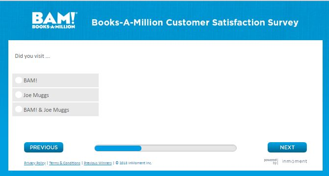 Books-A-Million BAM! Survey – $5 Off Of $25
