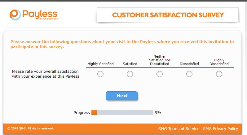 Payless ShoeSource Customer Satisfaction Survey