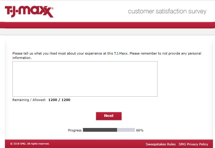 T.J. Maxx Customer Satisfaction Survey - Detailed Guidance