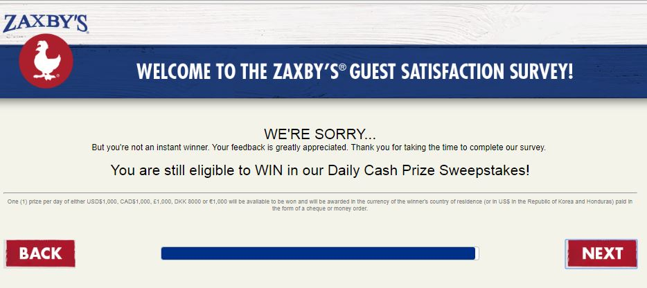 My Zaxby's Guest Satisfaction Survey