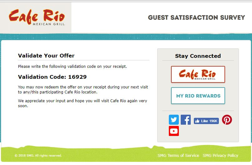 cafe rio specials