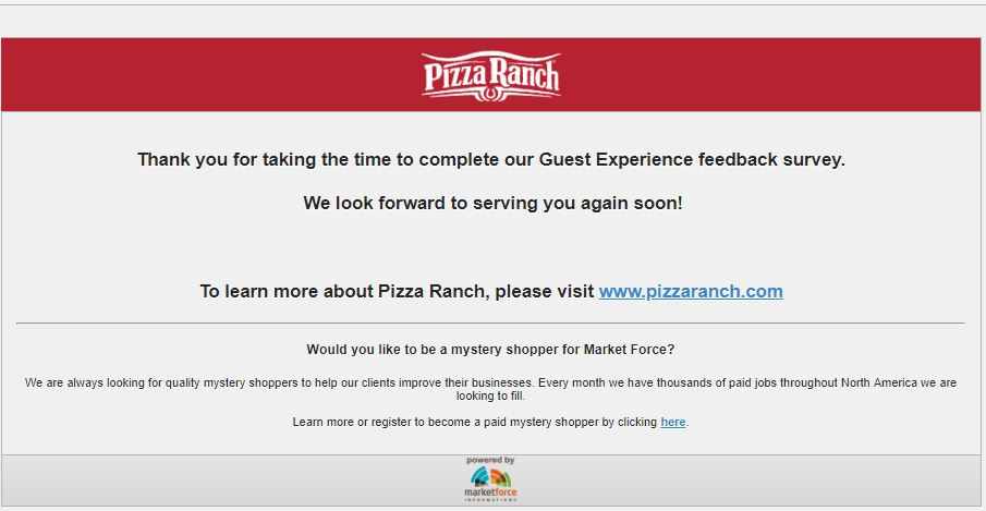 pizza ranch near me