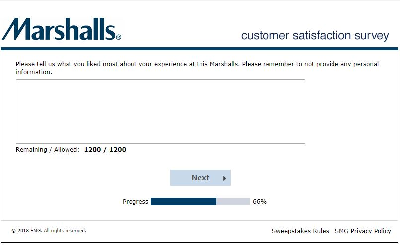 marshalls customer service email
