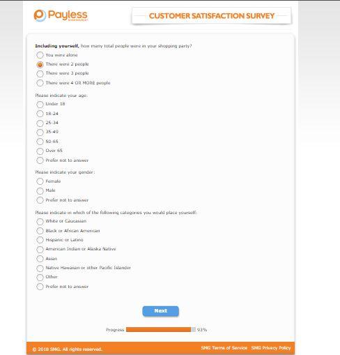 Payless Survey - Customer Satisfaction Survey