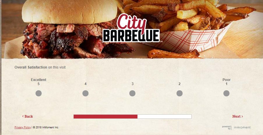 City Barbeque Feedback Survey | Win By Survey | Pinterest