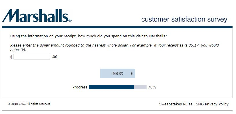 Marshalls Customer Satisfaction Survey
