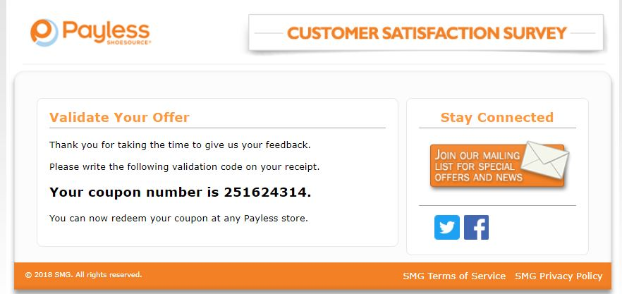 The Payless Customer Satisfaction Survey