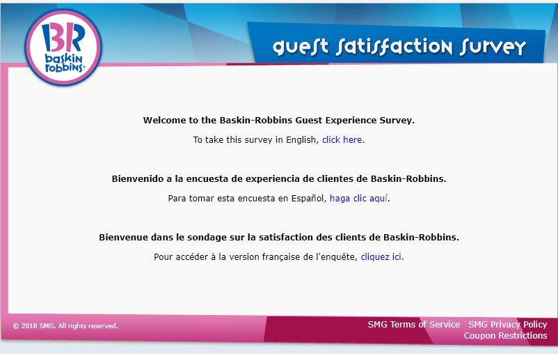Baskin-Robbins Guest Experience Survey