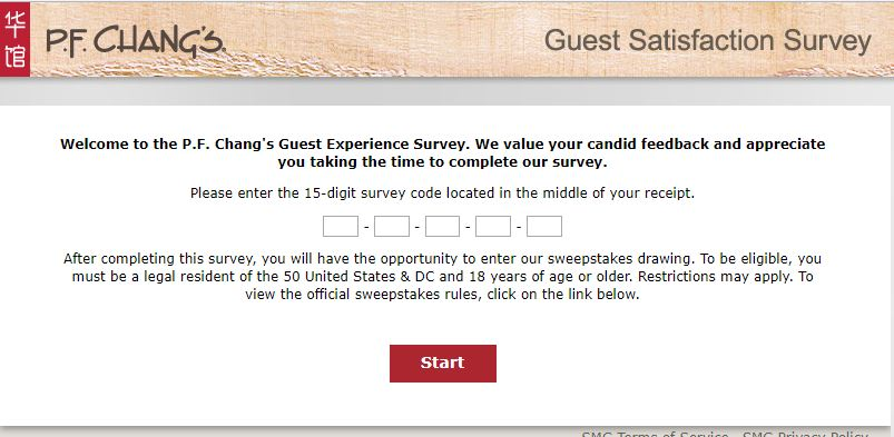 pf chang's customer satisfaction survey sweepstakes