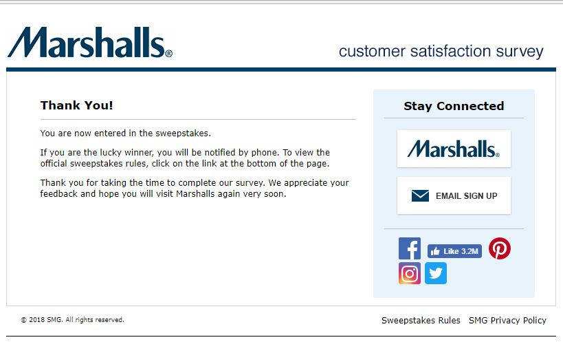 Take a part in Marshalls Survey for a chance to walk away with a $500
