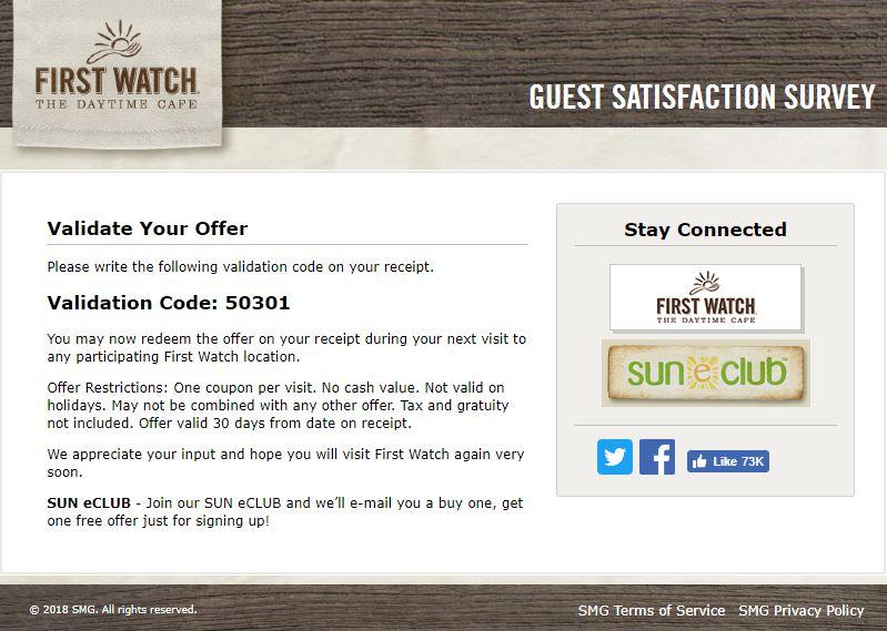 first watch restaurant customer service