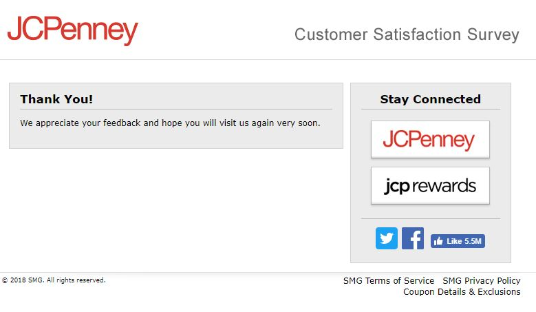 jcpenney customer survey