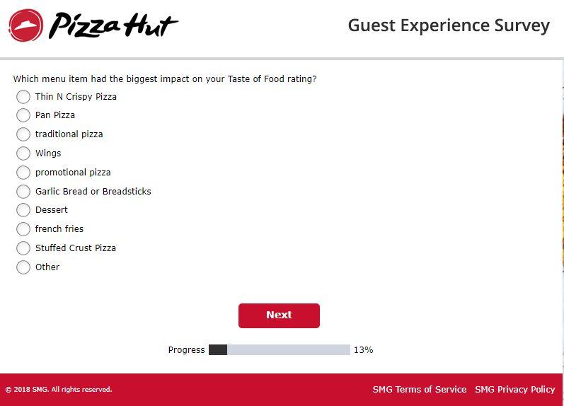 pizza hut new user offer