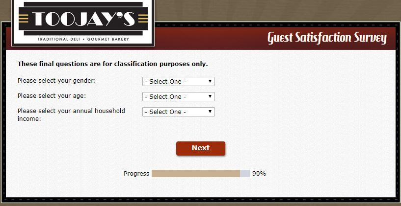 toojays menu