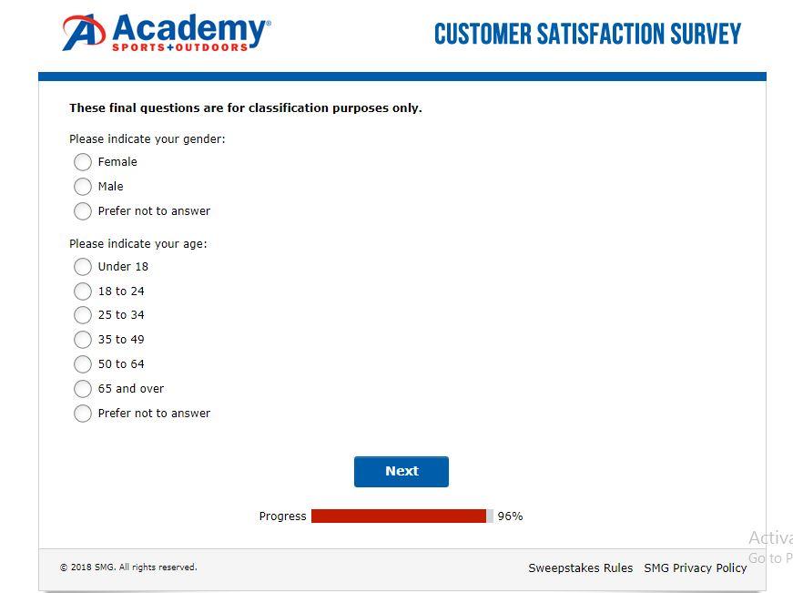 academy feedback