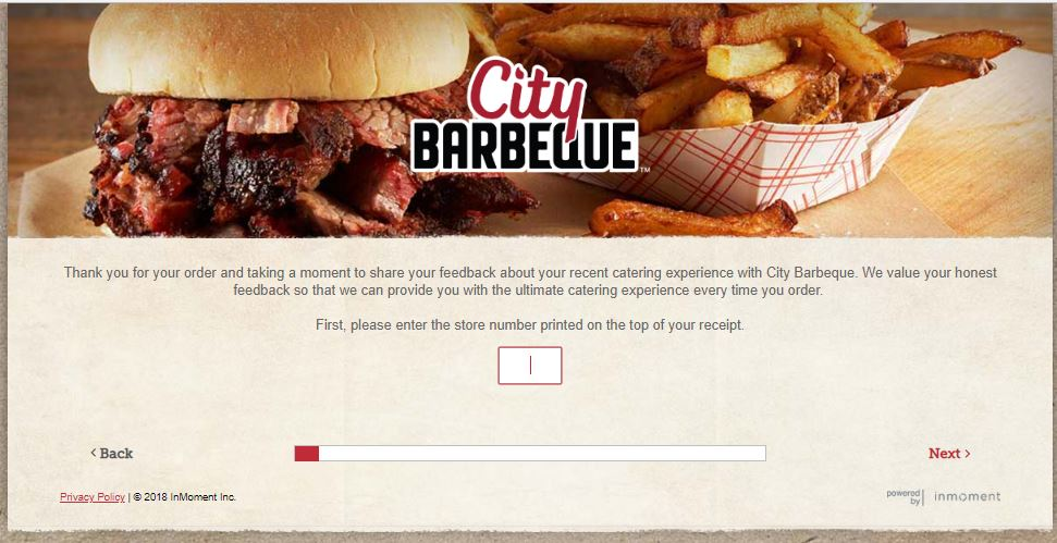 City Barbeque Customer Feedback Survey