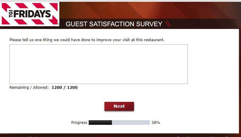 tgi fridays customer survey