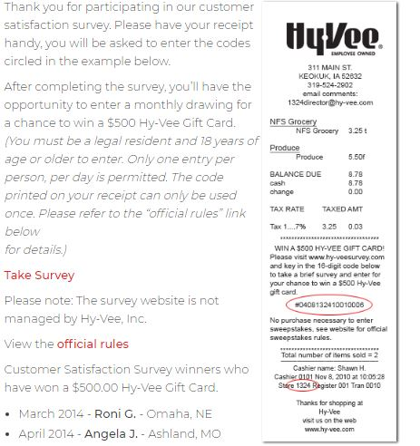 Hy-Vee - Your employee-owned grocery store - Survey