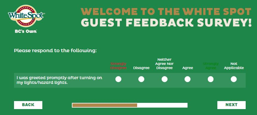 White Spot Guest Feedback Survey - www.talktowhitespot.ca