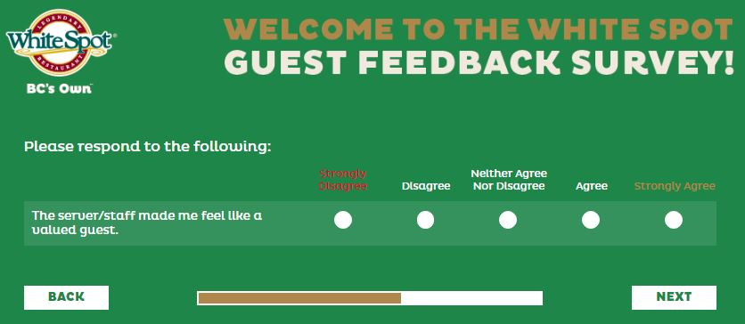 White Spot Survey - www.talktowhitespot.ca - Customer Survey Report