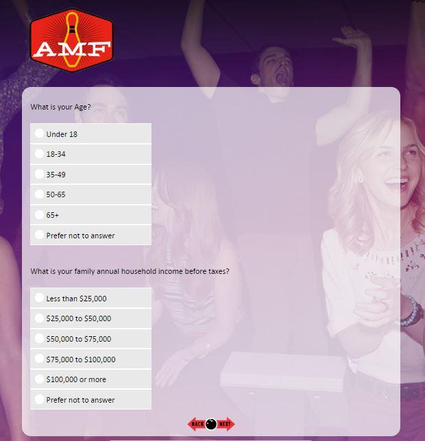 www.amfsurveys.com – AMF Bowling Survey