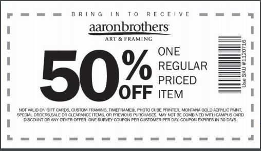 aaron brothers closing sale