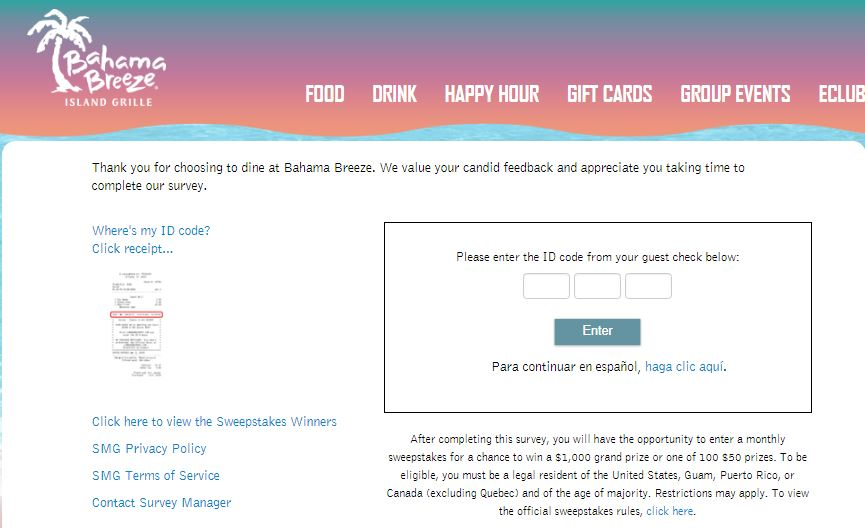 bahama breeze rewards